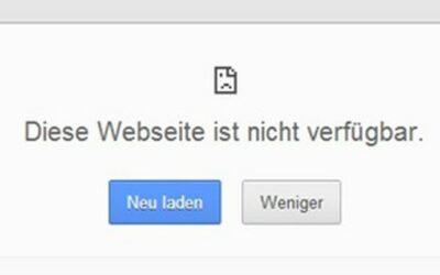 Webseiten-Ausfall